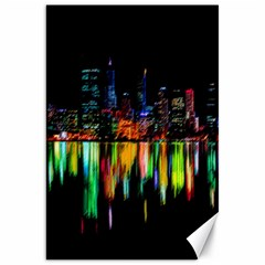 City Panorama Canvas 20  X 30   by Valentinaart