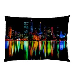 City Panorama Pillow Case by Valentinaart