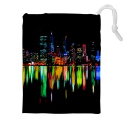 City Panorama Drawstring Pouches (xxl) by Valentinaart