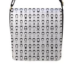 Beard Types Pattern Flap Messenger Bag (l)  by Valentinaart