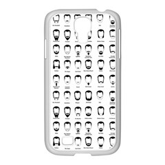Beard Types Pattern Samsung Galaxy S4 I9500/ I9505 Case (white) by Valentinaart