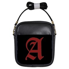 The Scarlet Letter Girls Sling Bags by Valentinaart