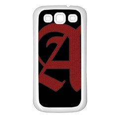 The Scarlet Letter Samsung Galaxy S3 Back Case (white) by Valentinaart