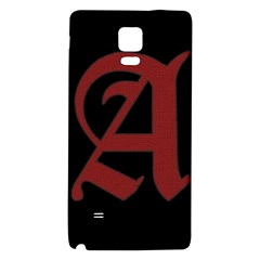 The Scarlet Letter Galaxy Note 4 Back Case by Valentinaart