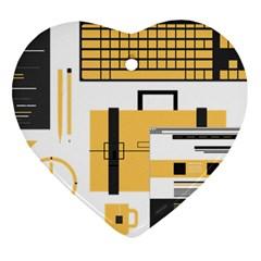 Web Design Mockup Web Developer Heart Ornament (two Sides)