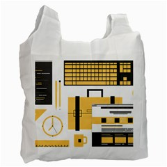 Web Design Mockup Web Developer Recycle Bag (one Side)
