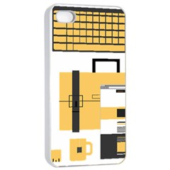 Web Design Mockup Web Developer Apple Iphone 4/4s Seamless Case (white)