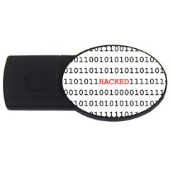 Binary Black Cyber Data Digits Usb Flash Drive Oval (4 Gb) by Nexatart