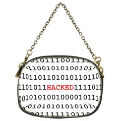 Binary Black Cyber Data Digits Chain Purses (two Sides)