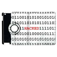 Binary Black Cyber Data Digits Apple Ipad 2 Flip 360 Case