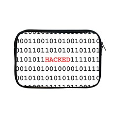 Binary Black Cyber Data Digits Apple Ipad Mini Zipper Cases by Nexatart