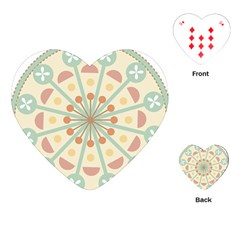 Blue Circle Ornaments Playing Cards (heart)  by Nexatart