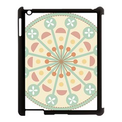 Blue Circle Ornaments Apple Ipad 3/4 Case (black)