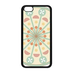 Blue Circle Ornaments Apple Iphone 5c Seamless Case (black) by Nexatart