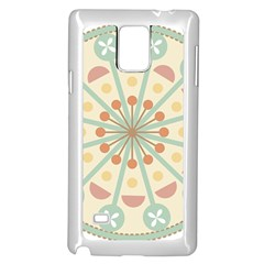 Blue Circle Ornaments Samsung Galaxy Note 4 Case (white) by Nexatart