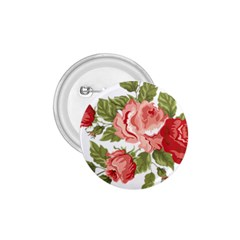 Flower Rose Pink Red Romantic 1 75  Buttons by Nexatart