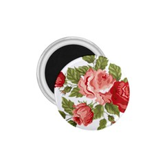 Flower Rose Pink Red Romantic 1 75  Magnets by Nexatart