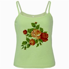 Flower Rose Pink Red Romantic Green Spaghetti Tank by Nexatart