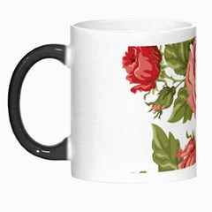 Flower Rose Pink Red Romantic Morph Mugs by Nexatart