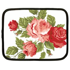 Flower Rose Pink Red Romantic Netbook Case (xl)