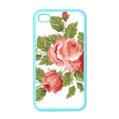 Flower Rose Pink Red Romantic Apple Iphone 4 Case (color) by Nexatart