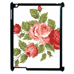 Flower Rose Pink Red Romantic Apple Ipad 2 Case (black)