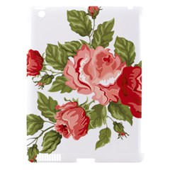 Flower Rose Pink Red Romantic Apple Ipad 3/4 Hardshell Case (compatible With Smart Cover) by Nexatart
