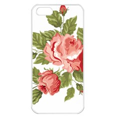 Flower Rose Pink Red Romantic Apple Iphone 5 Seamless Case (white)