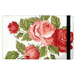 Flower Rose Pink Red Romantic Apple Ipad 2 Flip Case by Nexatart
