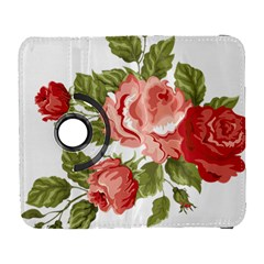 Flower Rose Pink Red Romantic Galaxy S3 (flip/folio) by Nexatart