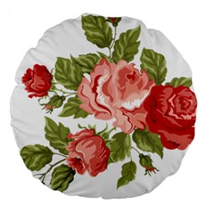 Flower Rose Pink Red Romantic Large 18  Premium Round Cushions by Nexatart