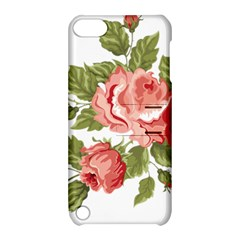 Flower Rose Pink Red Romantic Apple Ipod Touch 5 Hardshell Case With Stand by Nexatart
