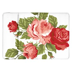Flower Rose Pink Red Romantic Samsung Galaxy Tab 8 9  P7300 Flip Case
