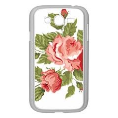 Flower Rose Pink Red Romantic Samsung Galaxy Grand Duos I9082 Case (white)