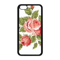 Flower Rose Pink Red Romantic Apple Iphone 5c Seamless Case (black) by Nexatart