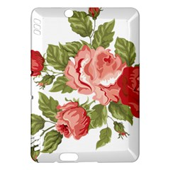 Flower Rose Pink Red Romantic Kindle Fire Hdx Hardshell Case by Nexatart
