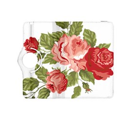 Flower Rose Pink Red Romantic Kindle Fire Hdx 8 9  Flip 360 Case by Nexatart