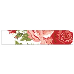 Flower Rose Pink Red Romantic Flano Scarf (small) by Nexatart