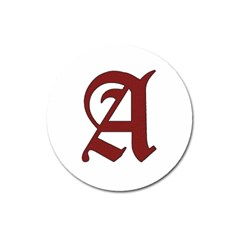 The Scarlet Letter Magnet 3  (round) by Valentinaart