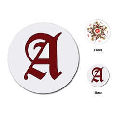 The Scarlet Letter Playing Cards (round)  by Valentinaart