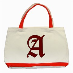 The Scarlet Letter Classic Tote Bag (red) by Valentinaart