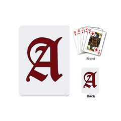 The Scarlet Letter Playing Cards (mini)  by Valentinaart