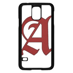 The Scarlet Letter Samsung Galaxy S5 Case (black) by Valentinaart