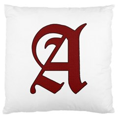 The Scarlet Letter Large Flano Cushion Case (two Sides) by Valentinaart