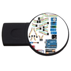 Arduino Arduino Uno Electronic Usb Flash Drive Round (4 Gb) by Nexatart