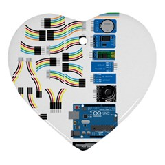 Arduino Arduino Uno Electronic Heart Ornament (two Sides) by Nexatart