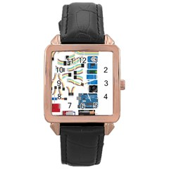 Arduino Arduino Uno Electronic Rose Gold Leather Watch  by Nexatart