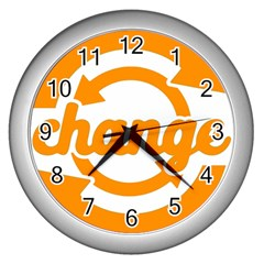Think Switch Arrows Rethinking Wall Clocks (silver)  by Nexatart