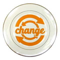 Think Switch Arrows Rethinking Porcelain Plates by Nexatart