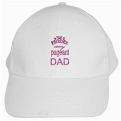 Crazy Pageant Dad White Cap by Valentinaart